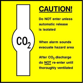 """Picture of """"Caution-Co2"""" Sign"""