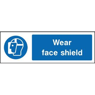 """Picture of """"Wear Face Shield"""" Sign"""