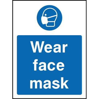 """Picture of """"Wear Face Mask"""" Sign"""